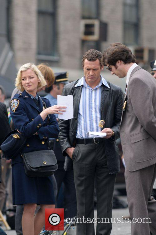 Gretchen Mol and Jason O'Mara on the set...