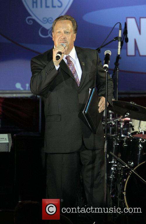 Bevely Hills mayor Jamshid Jimmy Delshad speaks at...