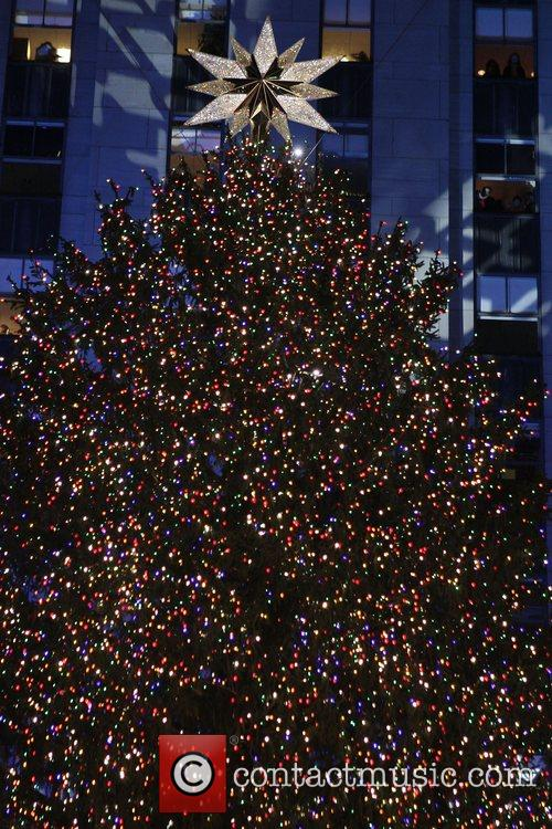 72-foot-tall Norway spruce Christmass tree with the Swarovski...