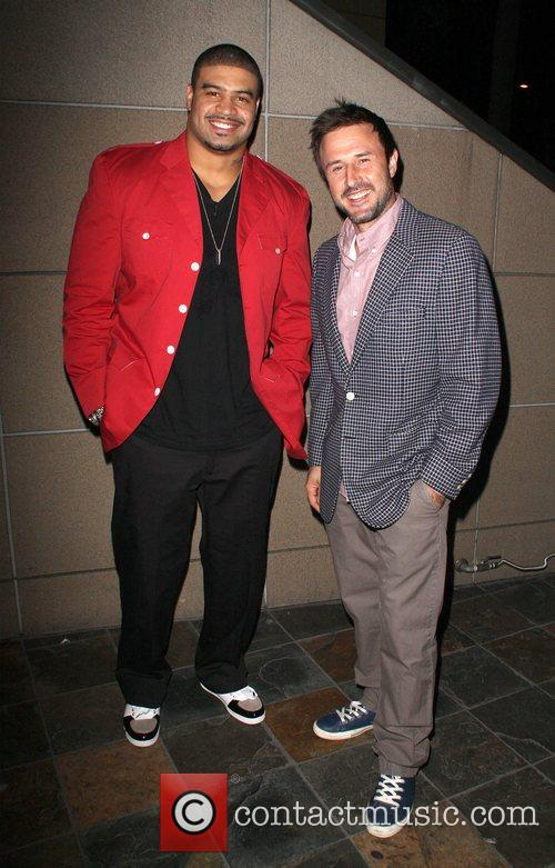Shawne Merriman and David Arquette The 'Lights on...