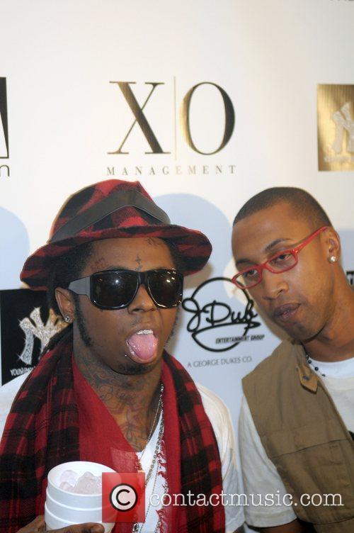 Lil Wayne and guest Lil Wayne celebrates his...