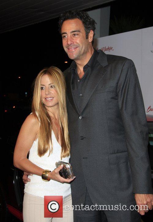 Brad Garrett and girlfriend Lisa Gores attends the...