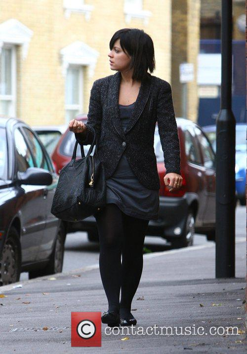 Lily Allen on her way to a meeting...