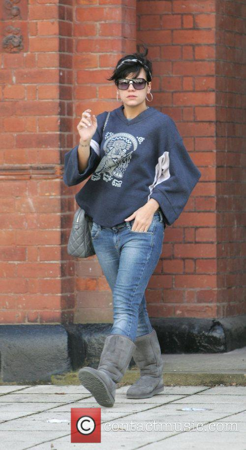 Lily Allen out in West London looking very...