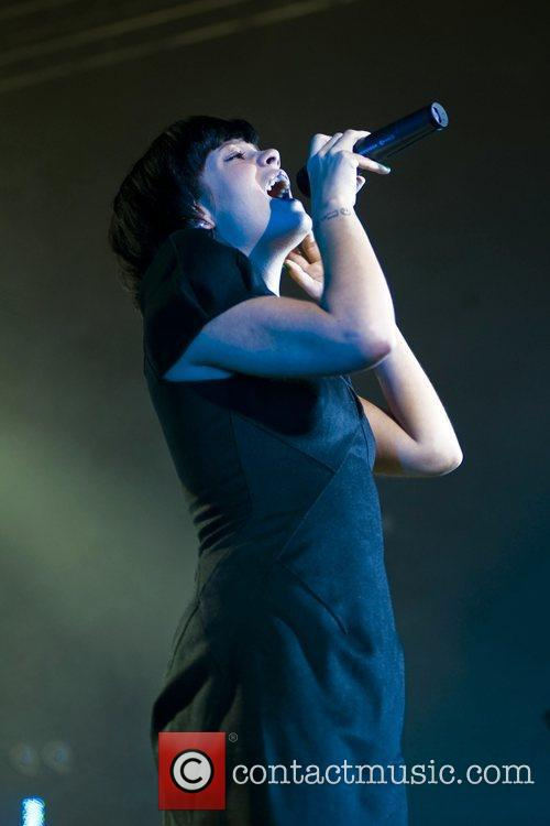 Lilly Allen  performing live at the O2...