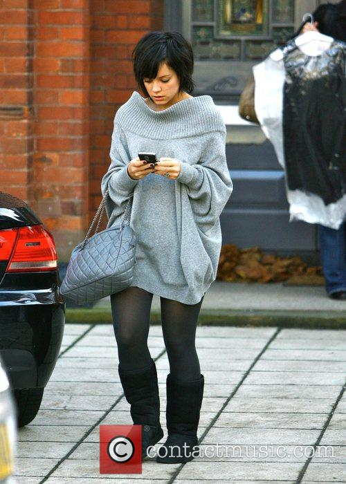 Lily Allen leaves her house wearing Ugg boots...