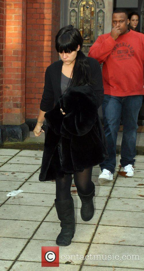 Lily Allen looks unhappy as she leaves her...