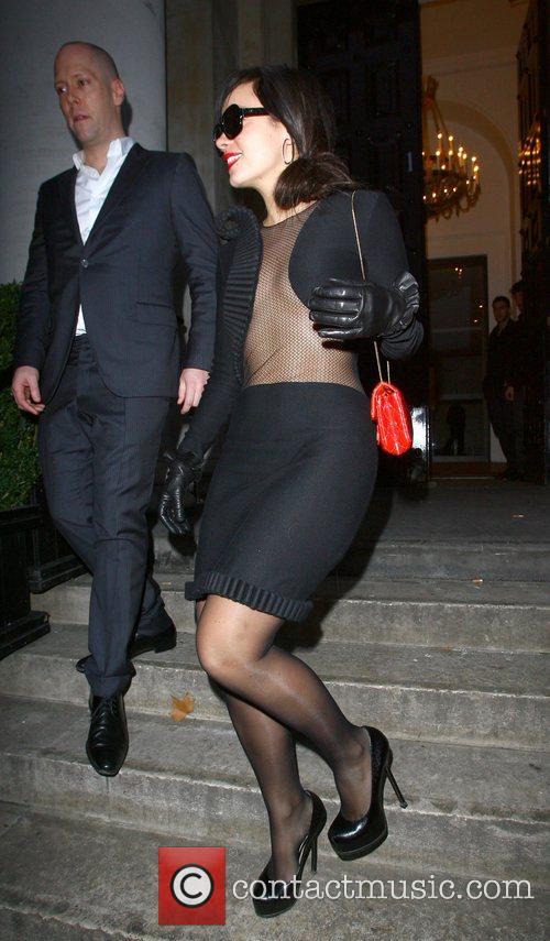 Lily Allen leaving a venue in Marylebone wearing...