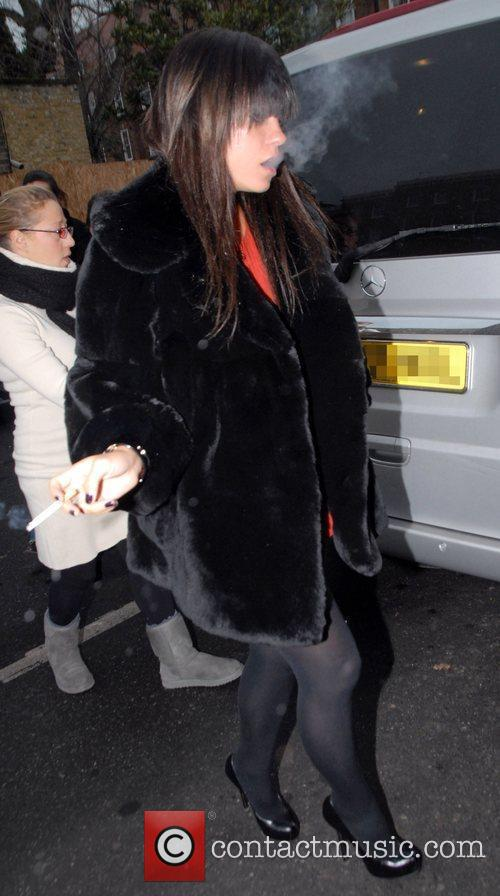 Lily Allen arriving at an East London pub...