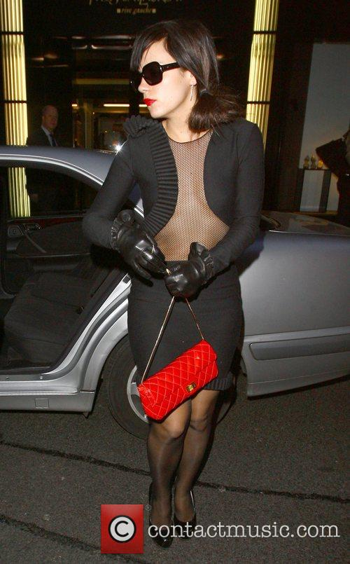 Lily Allen arrives at a Prada store for...
