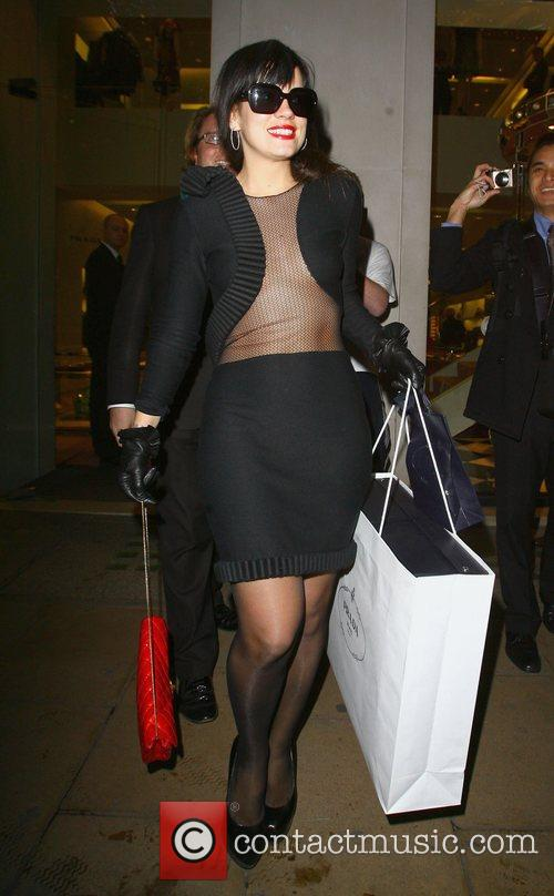 Lily Allen leaves a Prada store after shopping...