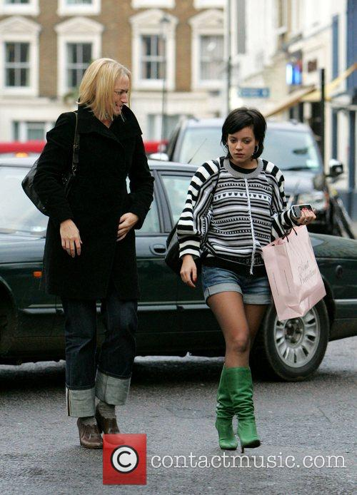 Lily Allen seen out shopping with a friend...