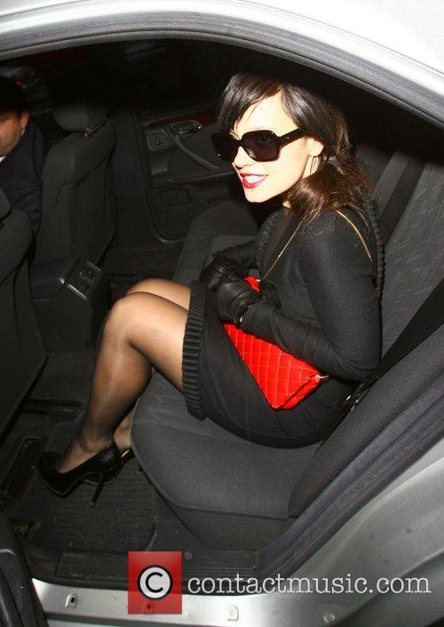 Lily Allen leaves a Prada store after doing...