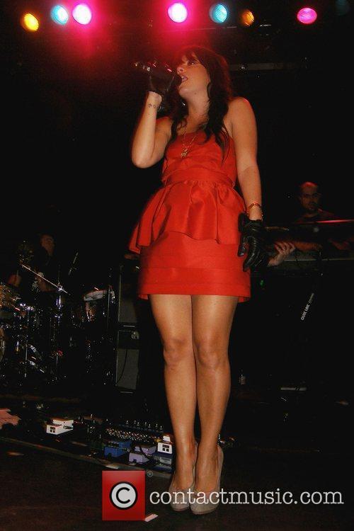 Lily Allen performs at a MySpace Secret Show...