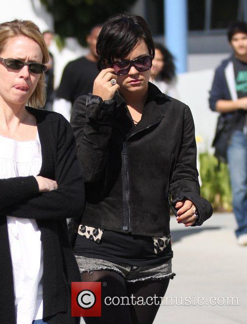 Lily Allen leaves a radio station in Santa...