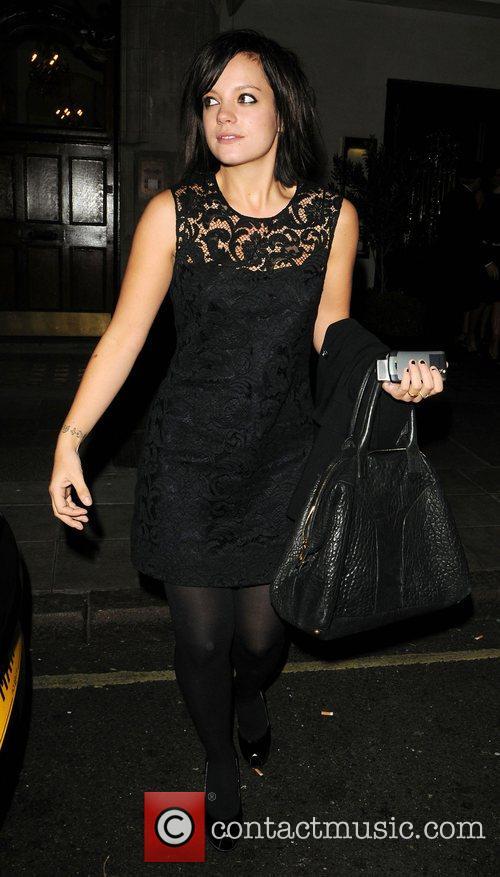 Lily Allen  leaving Scotts restaurant London, England