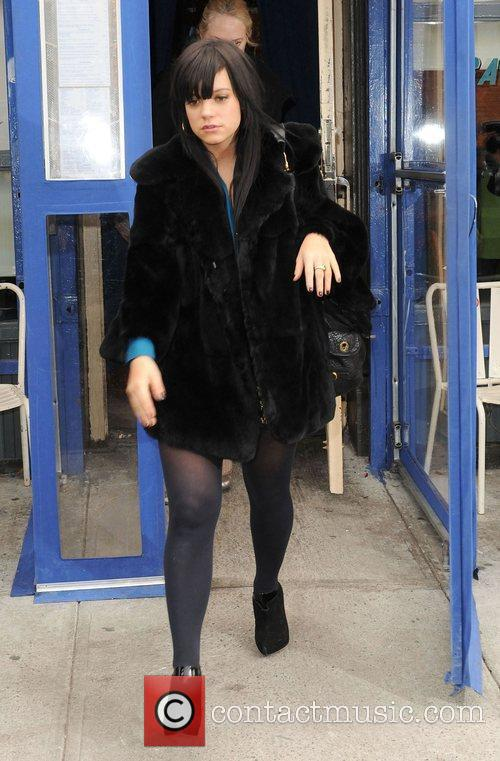 Lily Allen leaving a Cafe in SoHo New...