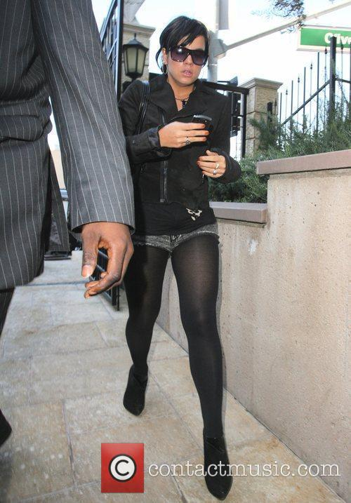 Lily Allen arriving at a studio in Hollywood...