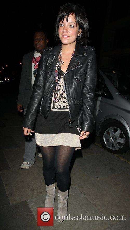 Lily Allen arrives at Zuma restaurant after appearing...