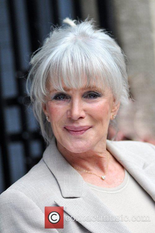 Linda Evans leaving the London Studios after appearing...