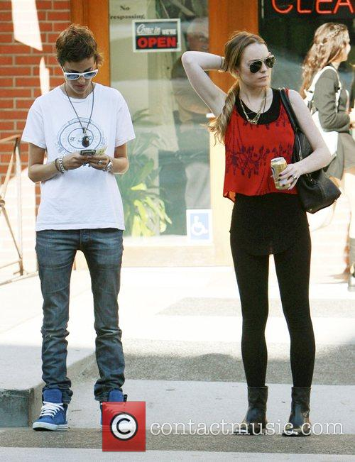 Lindsay Lohan and Samantha Ronson out and about...