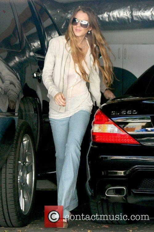 Lindsay Lohan arriving at the Chateau Marmont in...