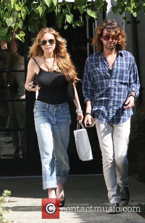 Lindsay Lohan sporting a new hairdo as she...