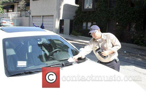 Samantha Ronson gets issued a parking ticket for...