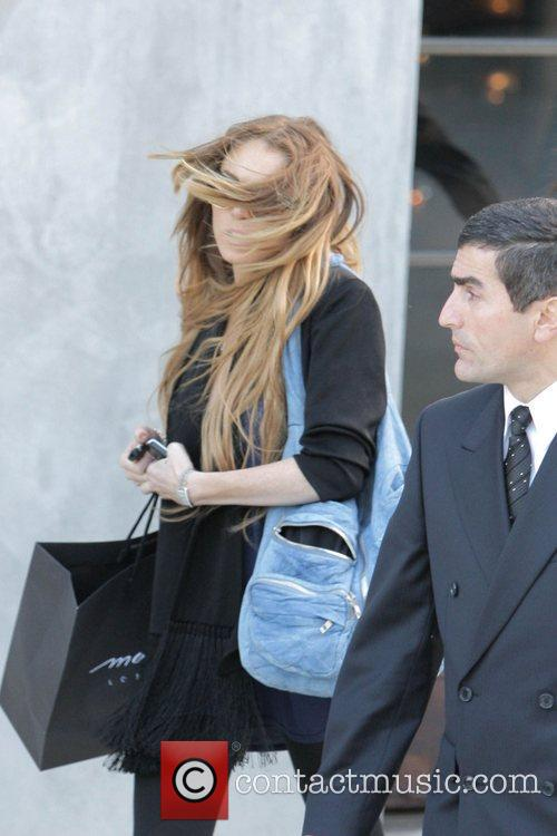 Lindsay Lohan  departs Maxfield after doing some...