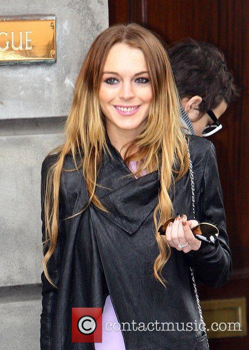 Lindsay Lohan and Samantha Ronson attend a Bar...
