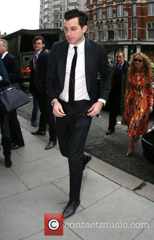 Mark Ronson arrives at a hotel for a...