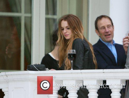 Lindsay Lohan at a hotel for a Bar...