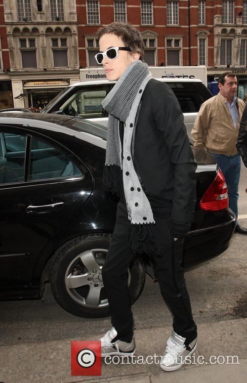 Samantha Ronson arrives at a hotel for a...