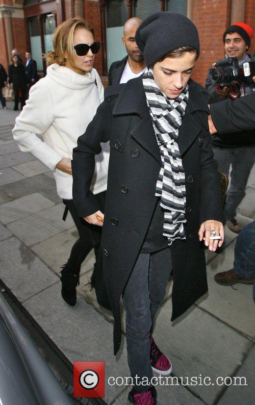 Lindsay Lohan and Samantha Ronson arriving at Kings...