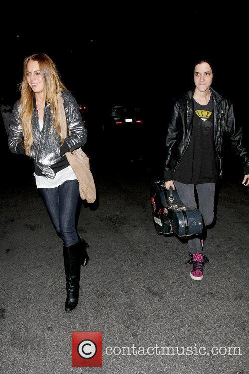 Lindsay Lohan and Samantha Ronson leaving the Genghis...