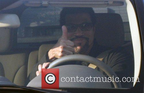 Lionel Richie leaving Maxfield on Melrose Avenue in...