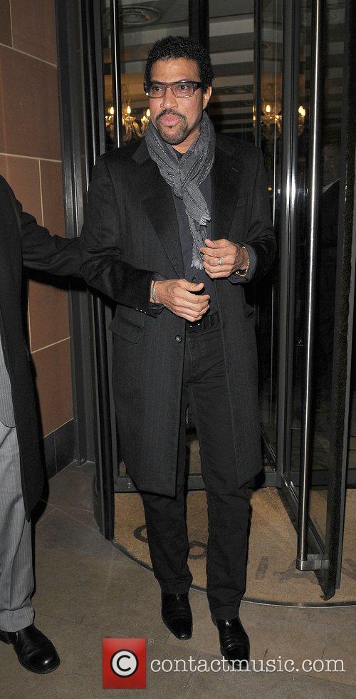 Lionel Richie leaving Cipriani Restaurant