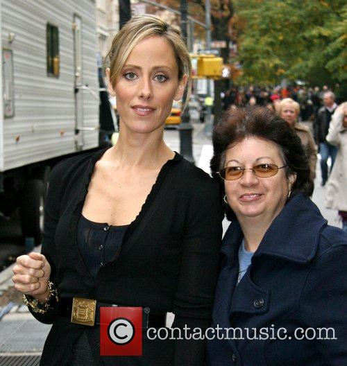 Kim Raver on a lunch break while filming...