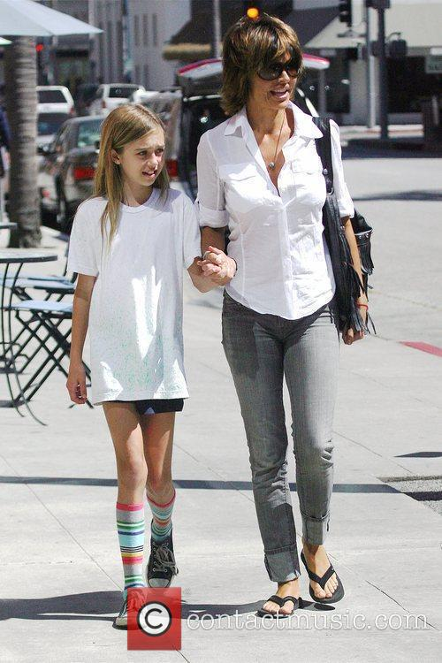 Lisa Rinna and daughter Amelia Gray Hamlin leaving...