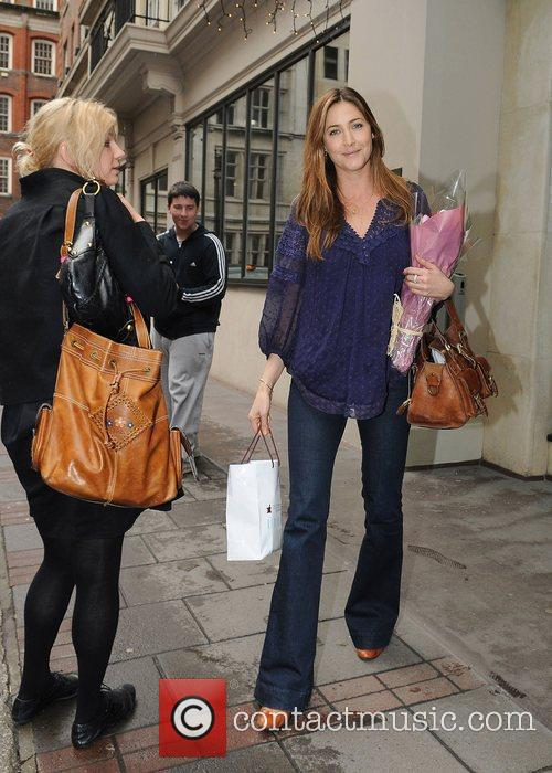 Lisa Snowdon leaving a hotel in central London...