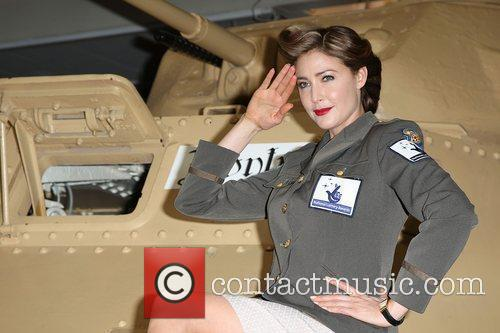 Lisa Snowdon attends a Photocall to promote the...