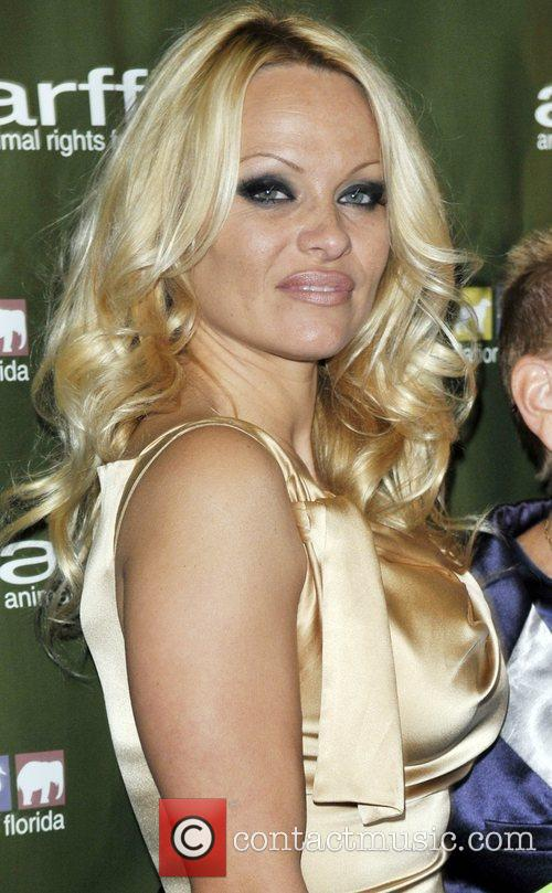 Pamela Anderson at Liv Nightclub in the Fontainebleau...