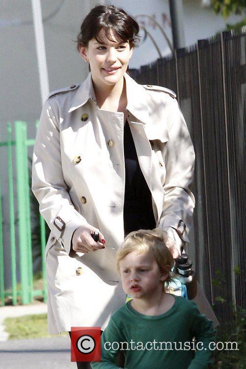 Actress Liv Tyler picks up her son, Milo...
