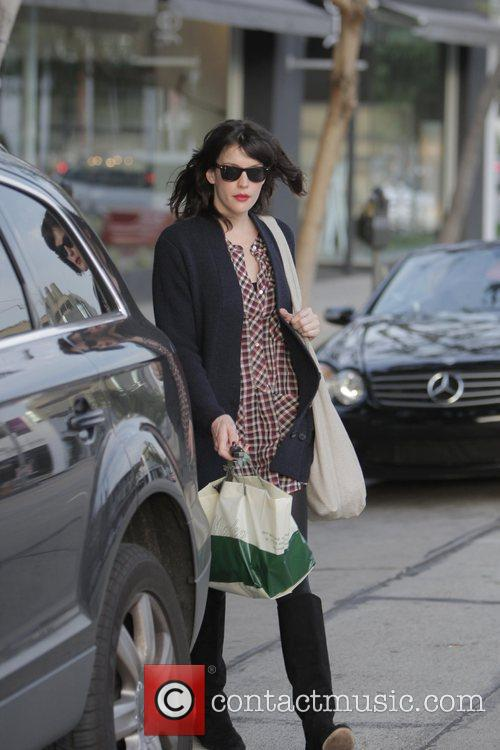 Liv Tyler  exits Madeo after having a...