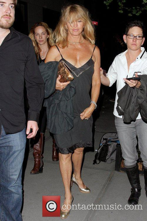 Goldie Hawn arrives at a private party for...