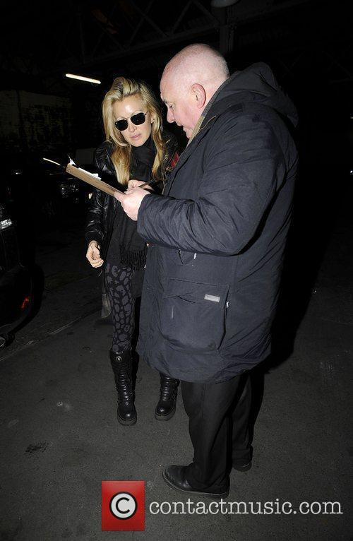 Caprice arriving at the Adelphi hotel for Liverpool...