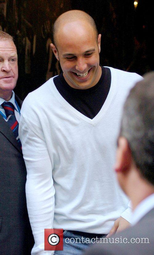 Pepe Reina leaving Jamie Carragher's Cafe Sports bar...