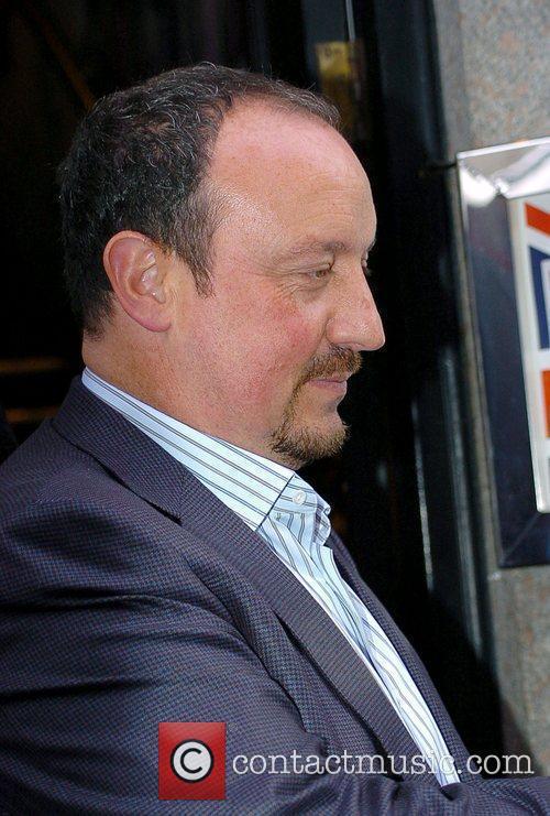 Rafael Benitez leaving Jamie Carragher's Cafe Sports bar...