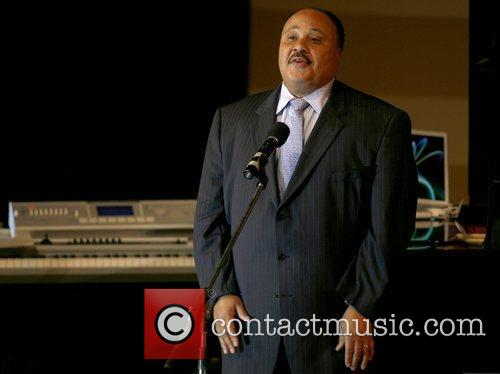 Martin Luther King III performs at the 'Living...
