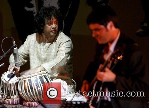 Ustad Zakir Hussain performs at the 'Living Dream'...